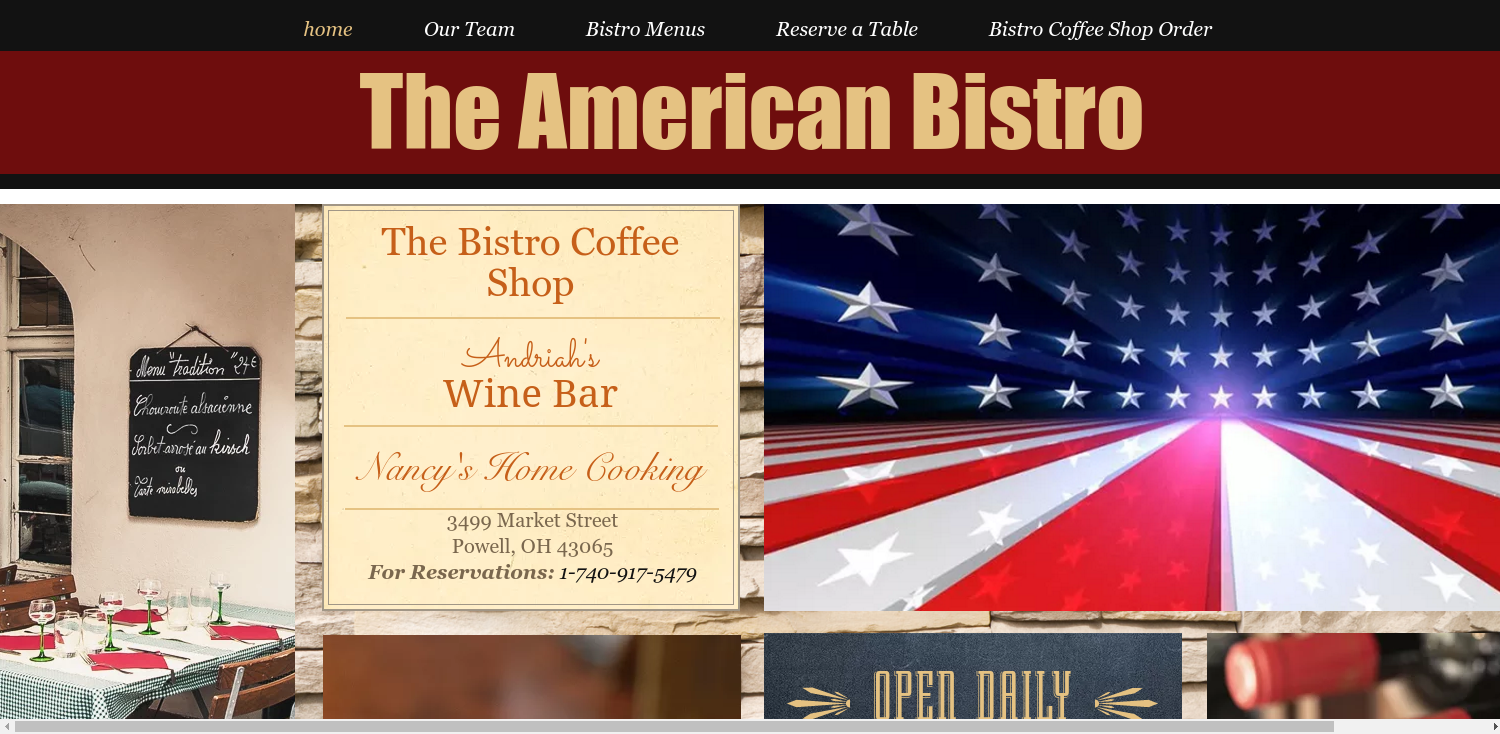 The American Bistro Website
